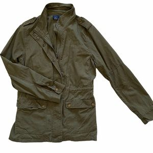 Blue Rain olive green military utility jacket L